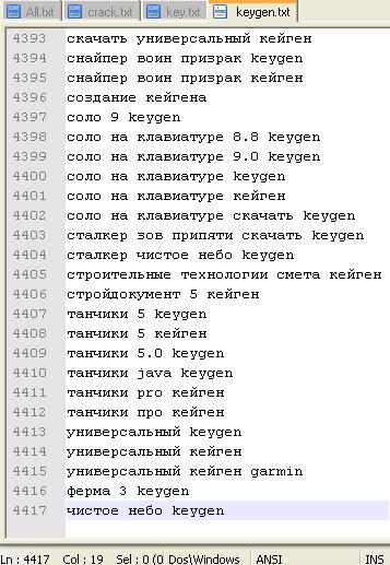 База ключевых слов под СтимулПрофит