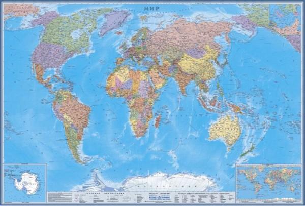 Карта Мира: Мир глазами американцев.