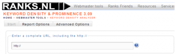 Keyword Density and Prominence Tool
