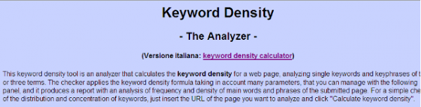 Keyword Density Link Analyser