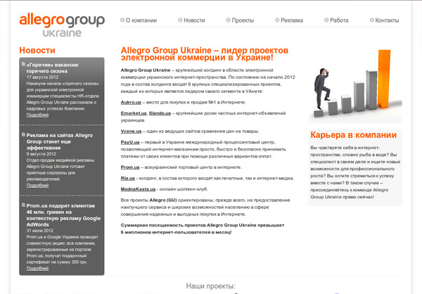 3 место. Allegro Group Ukraine (allegrogroup.com.ua)