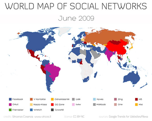 Какая социальная сеть самая популярная в мире?