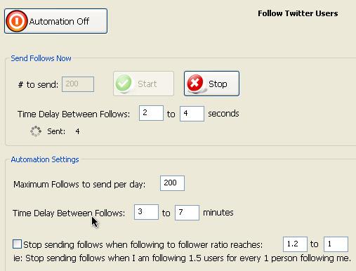TweetAdder – программа для работы с Twitter. Часть 3. Фолловинг. Рассылаем запросы на фолловинг.