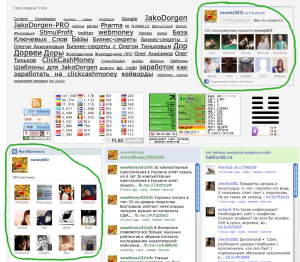 moneySEO.info в социальных сетях - первые 100 лайков!